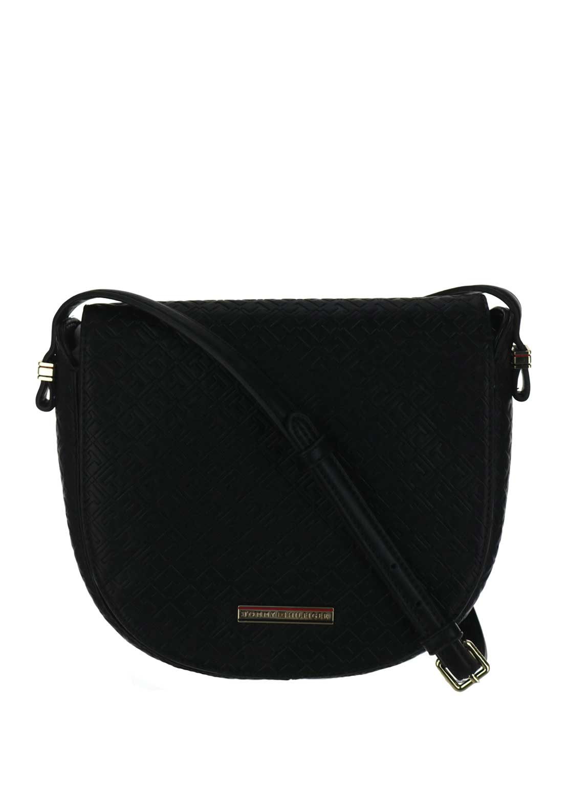 Tommy Hilfiger Emboss Flap Crossover Bag, Black