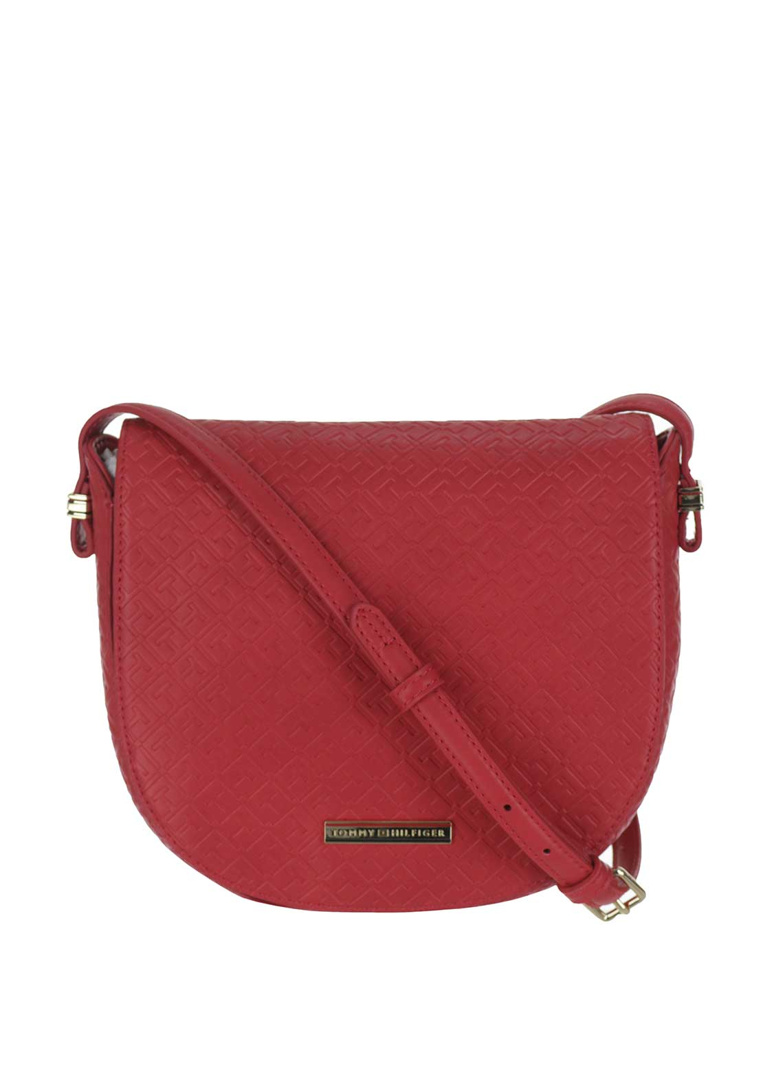 Tommy Hilfiger Emboss Flap Crossover Bag, Red
