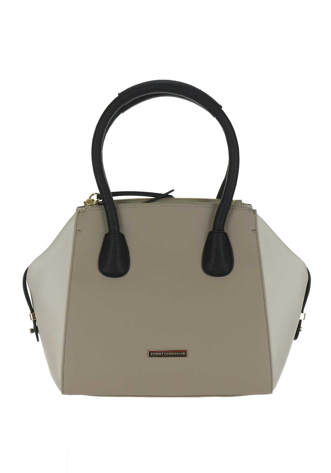 Tommy Hilfiger Saffiano Colourblock Duffle Bag, Dune, Turtledove & Black
