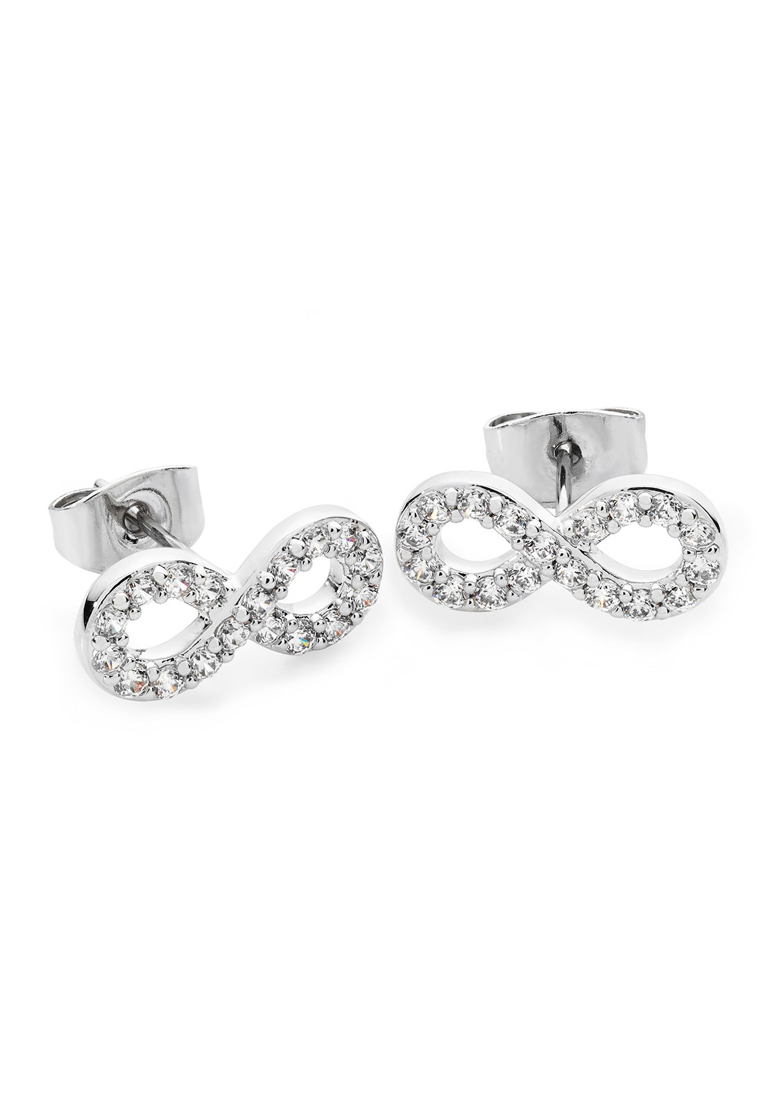 Tipperary Crystal Stone Set Infinity Stud Earrings