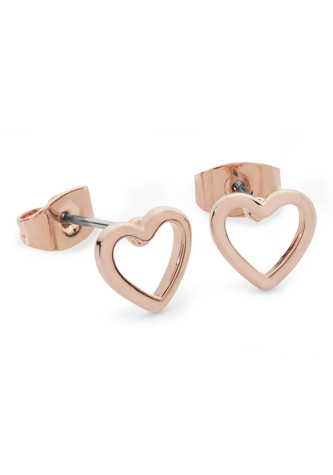 Tipperary Crystal Heart Earrings, Rose Gold