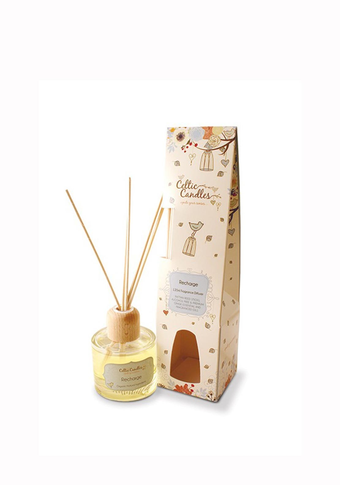 Celtic Candles Recharge Reed Diffuser, 100ml