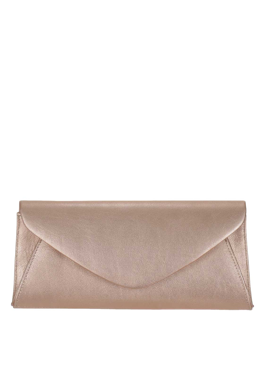 Marian Leather Envelope Clutch Bag, Pink