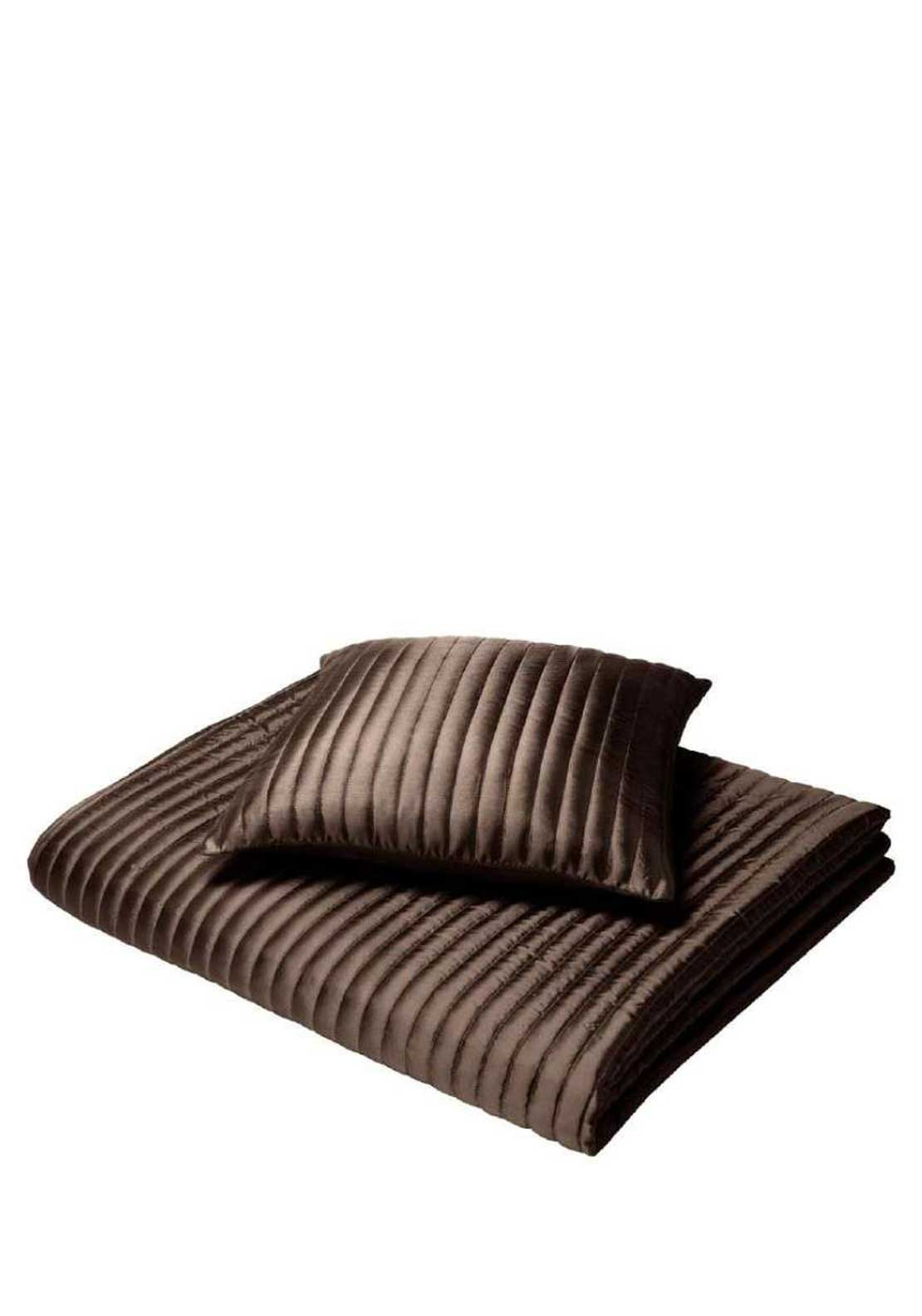 Catherine Lansfield Home Taffeta Cushion Cover, Chocolate