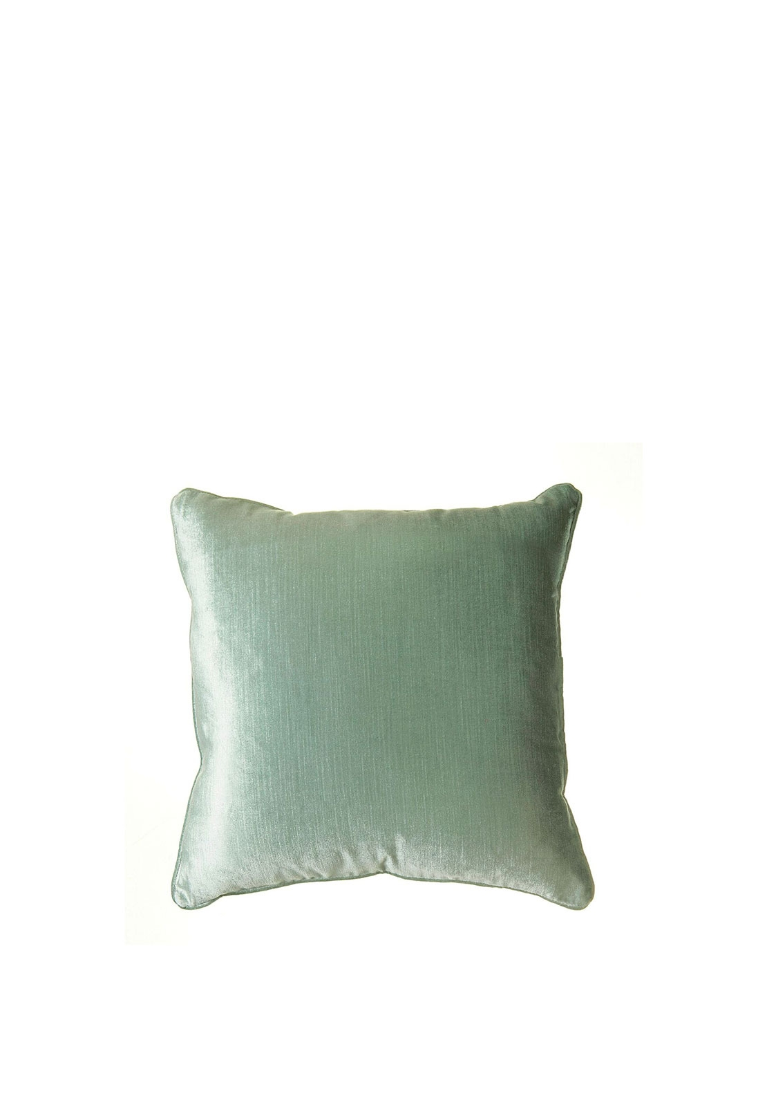 ScatterBox Velvet Sheen Duo Cushion 45x45CM, Duck Egg & Silver