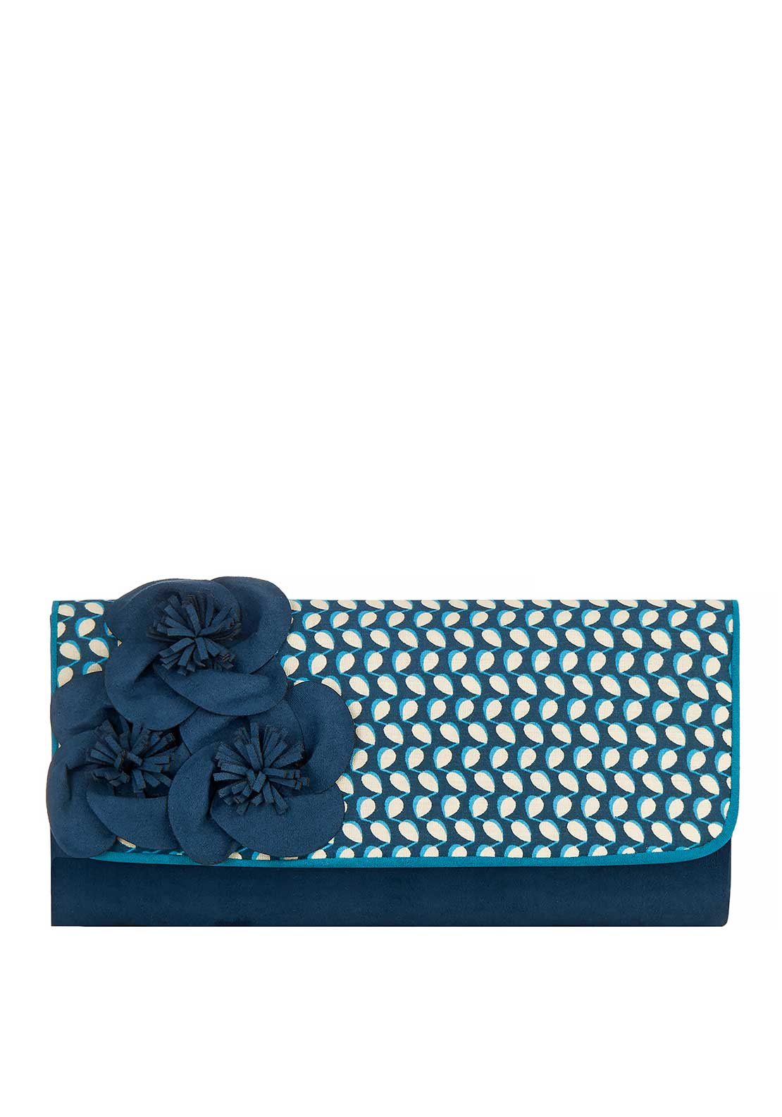 Ruby Shoo Milan Printed Flower Clutch Bag, Blue Floral