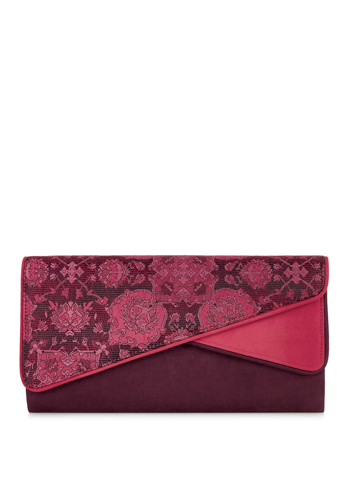 Ruby Shoo Sydney Flap Clutch Bag, Wine
