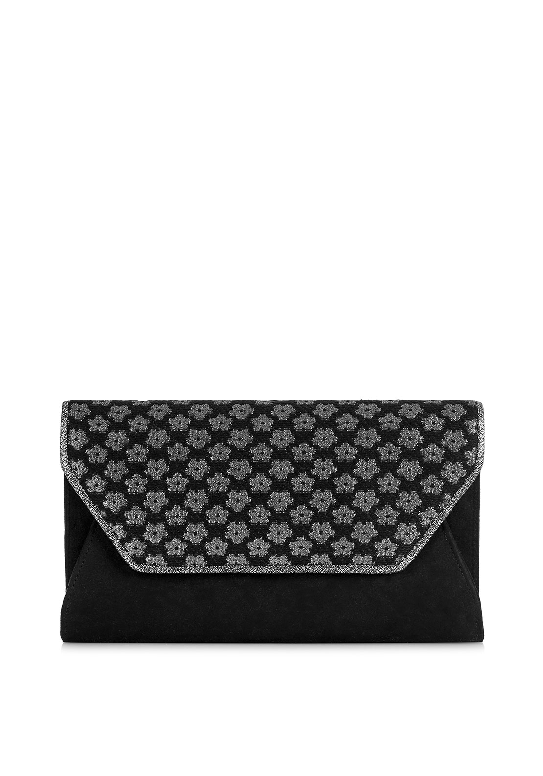 Ruby Shoo Lisbon Embroidered Clutch Bag, Black