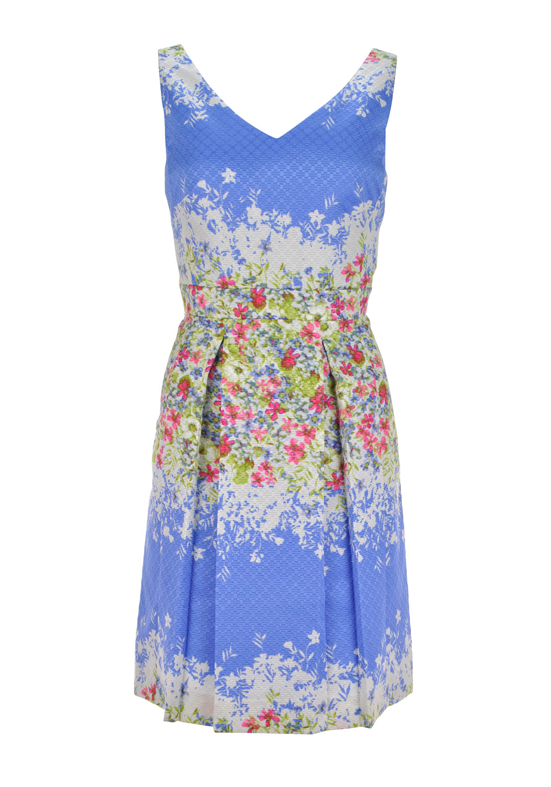 Tahari By Arthur S Levine Sleeveless Fit and Flare dress floral print