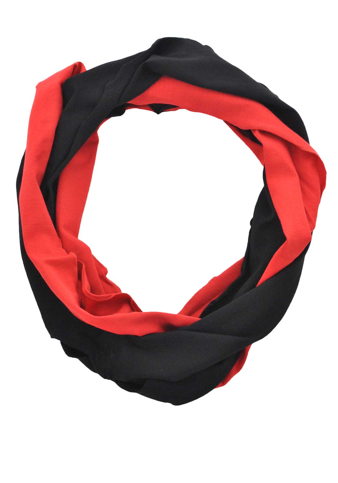 Doris Streich Jersey Snood, Black and Red