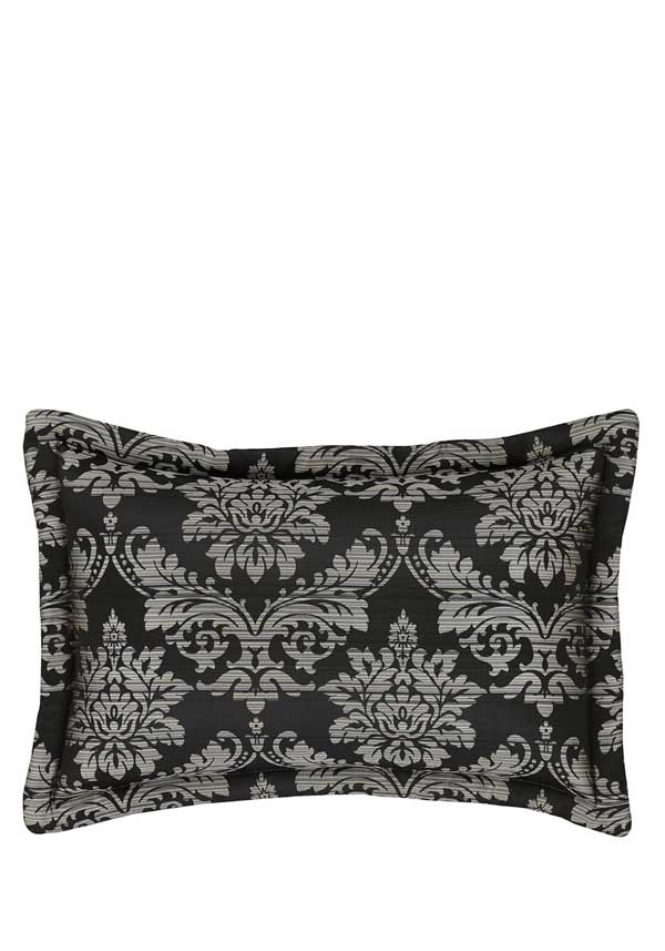 Catherine Lansfield Home Glamour Jacquard Pillow Shams, Black