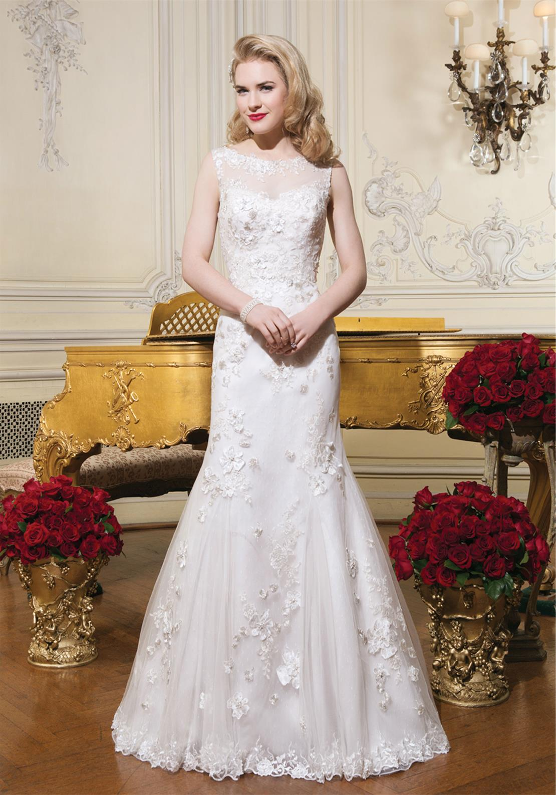 Justin Alexander 8751 Wedding Dress 14UK Ivory