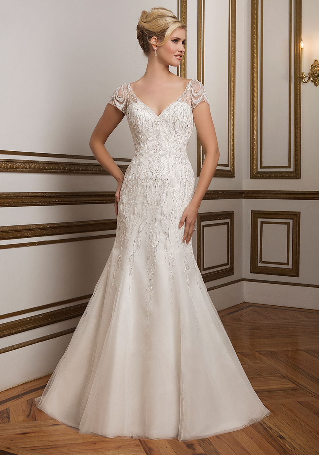 Justin Alexander 8846 Wedding Dress Alabaster UK Size 14