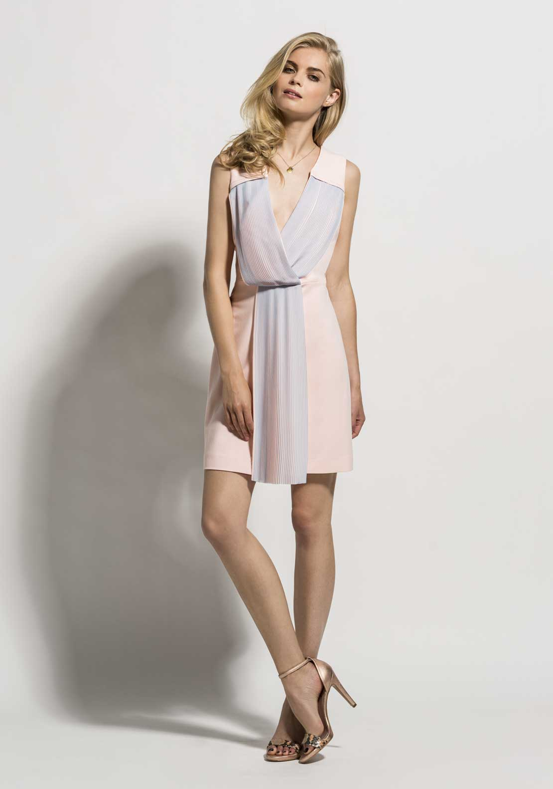Laura Bernal Wrap Dress, Pink & Blue