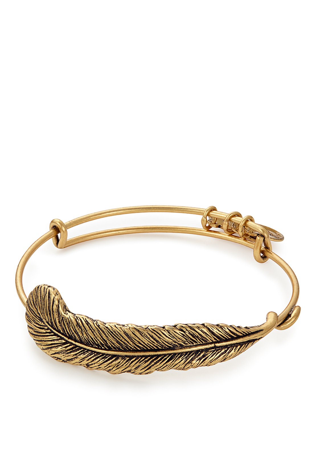Alex and Ani Energy Feather Bangle Gold