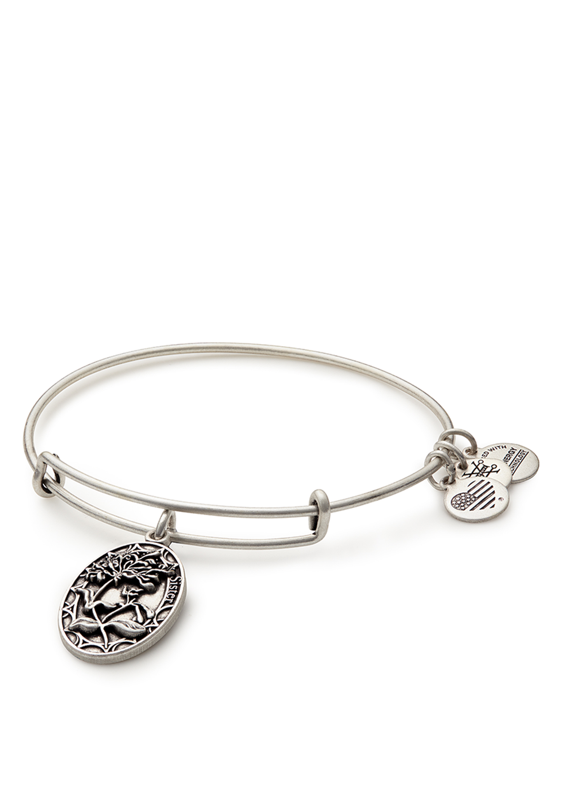 Alex and Ani Because I Love You Sister Bangle Silver
