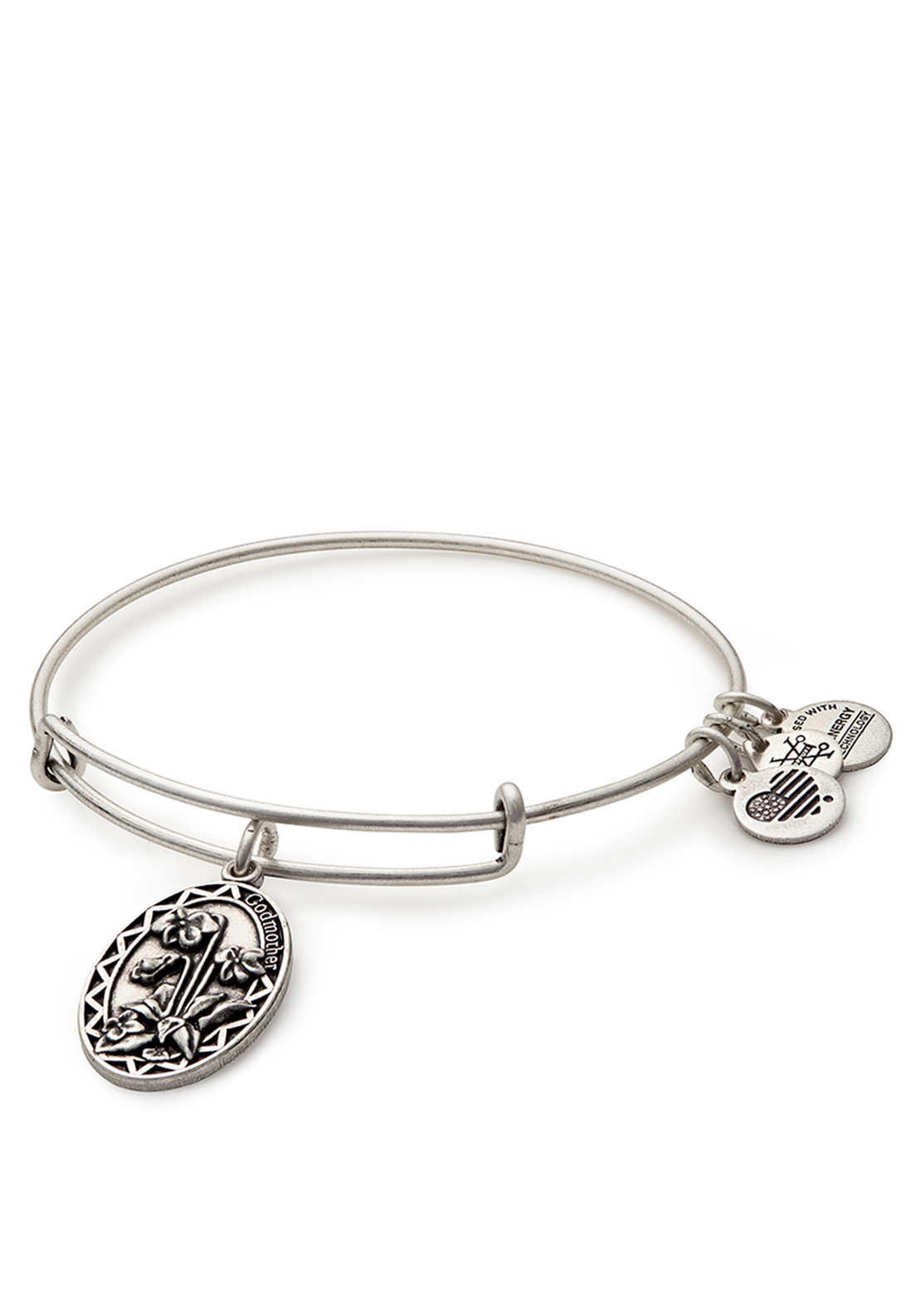 Alex and Ani Because I Love You Godmother Bangle Silver