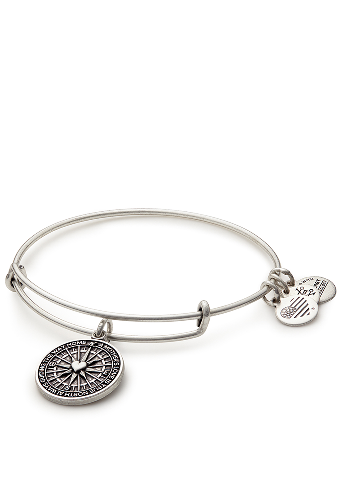 Alex and Ani True Direction Bangle Silver