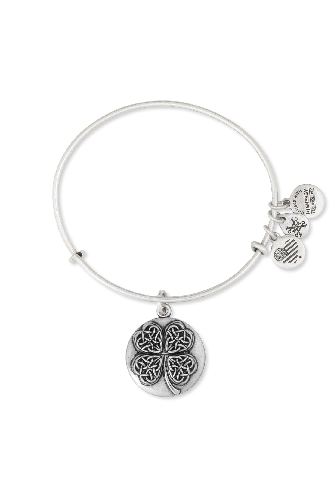 Alex and Ani Four Leaf Clover Bangle Silver