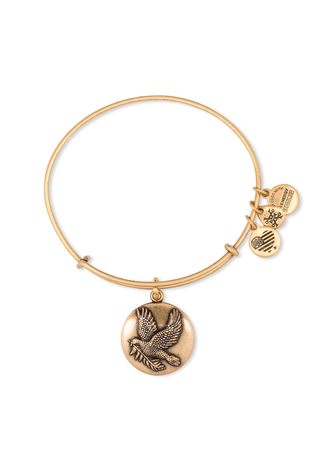 Alex and Ani Dove Bangle Gold