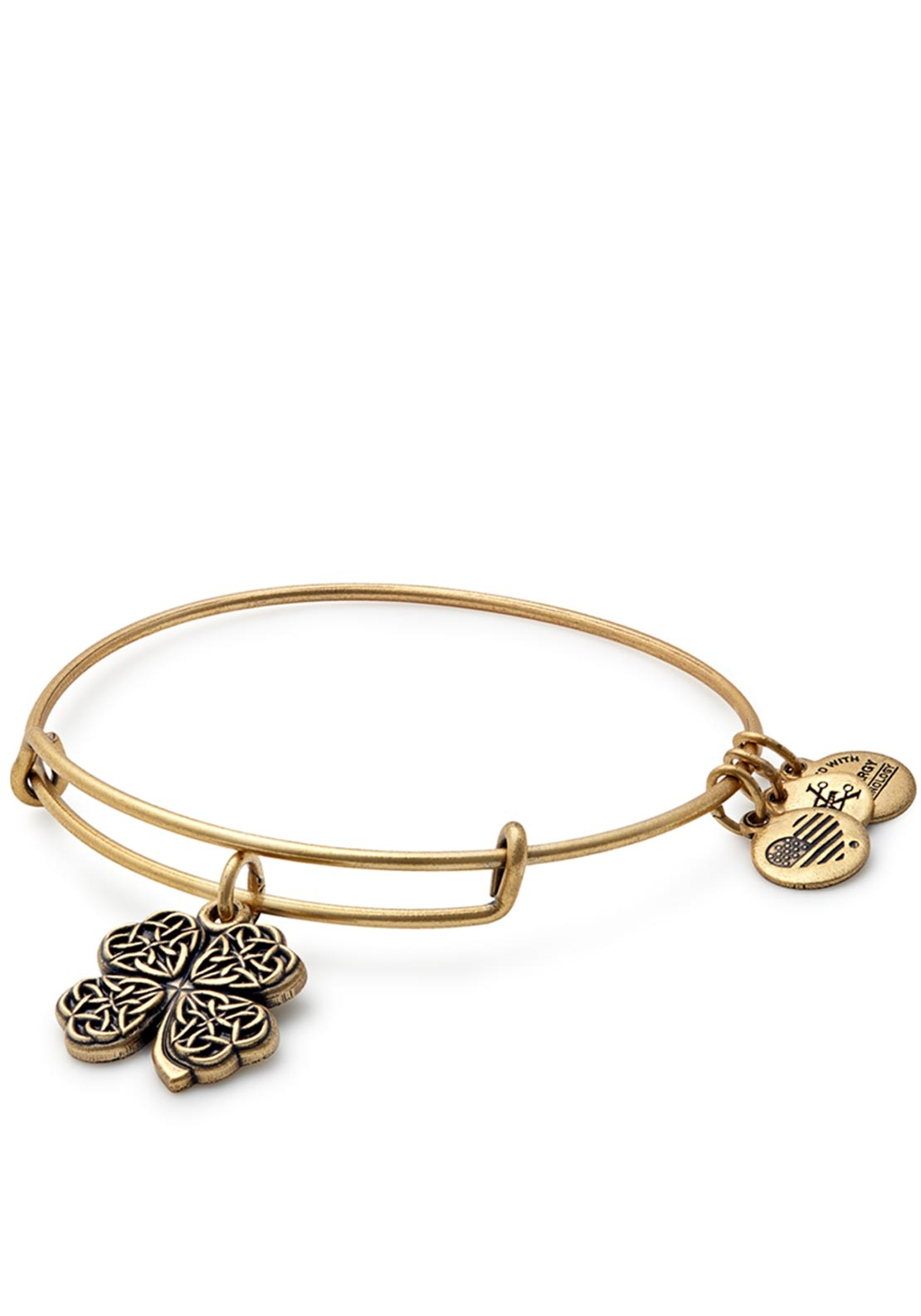 Alex and Ani Four Leaf Clover Bangle Gold