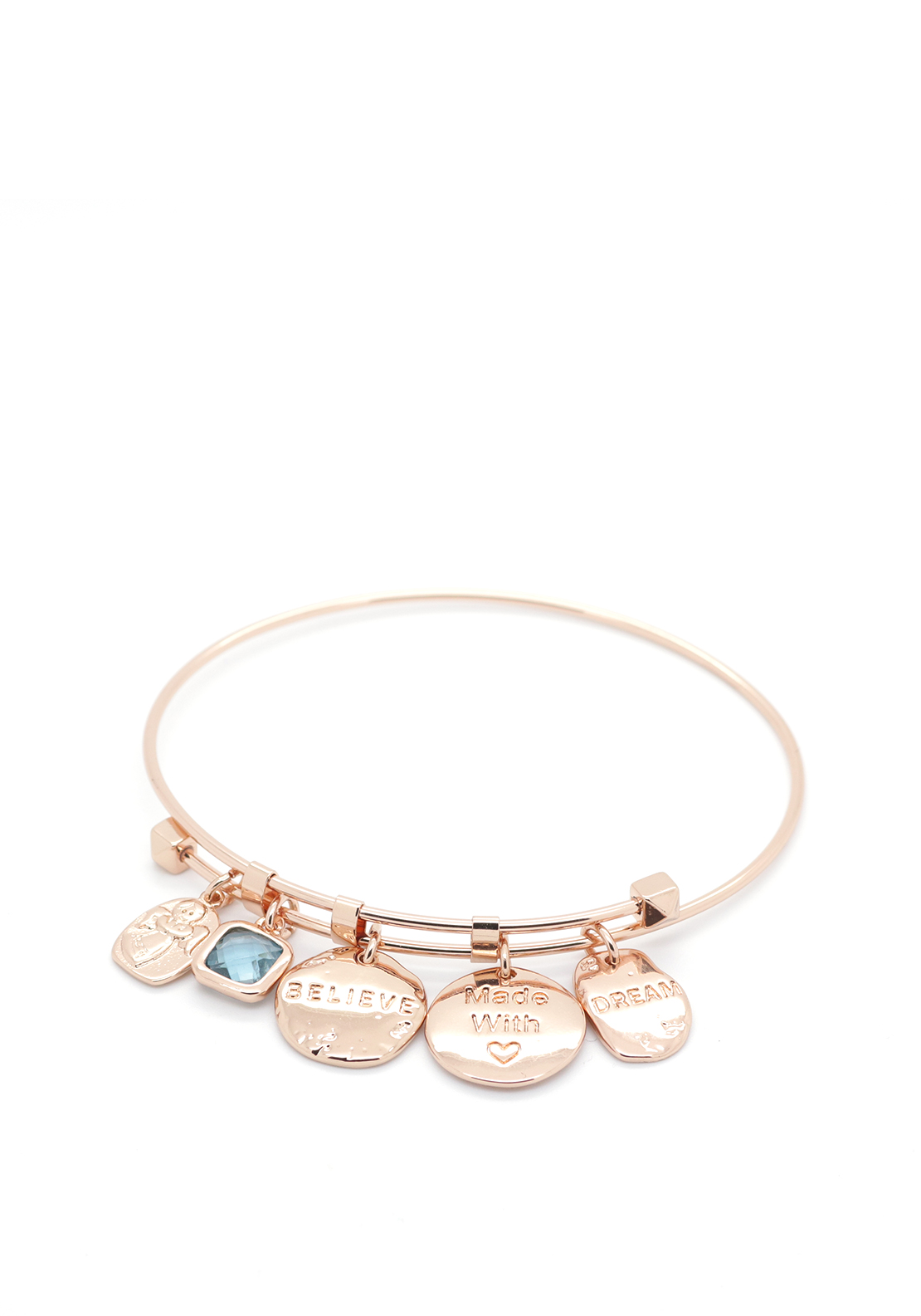 Absolute Jewellery Believe Dream Bangle, Rose Gold