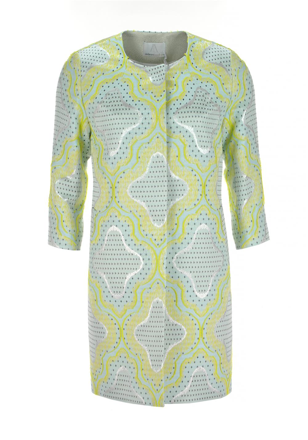 Aideen Bodkin Hoya Digital Print Coat, Jacquard
