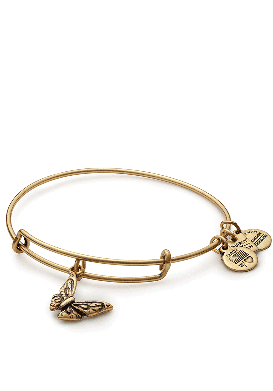 Alex and Ani Charity Butterfly Bracelet, Gold