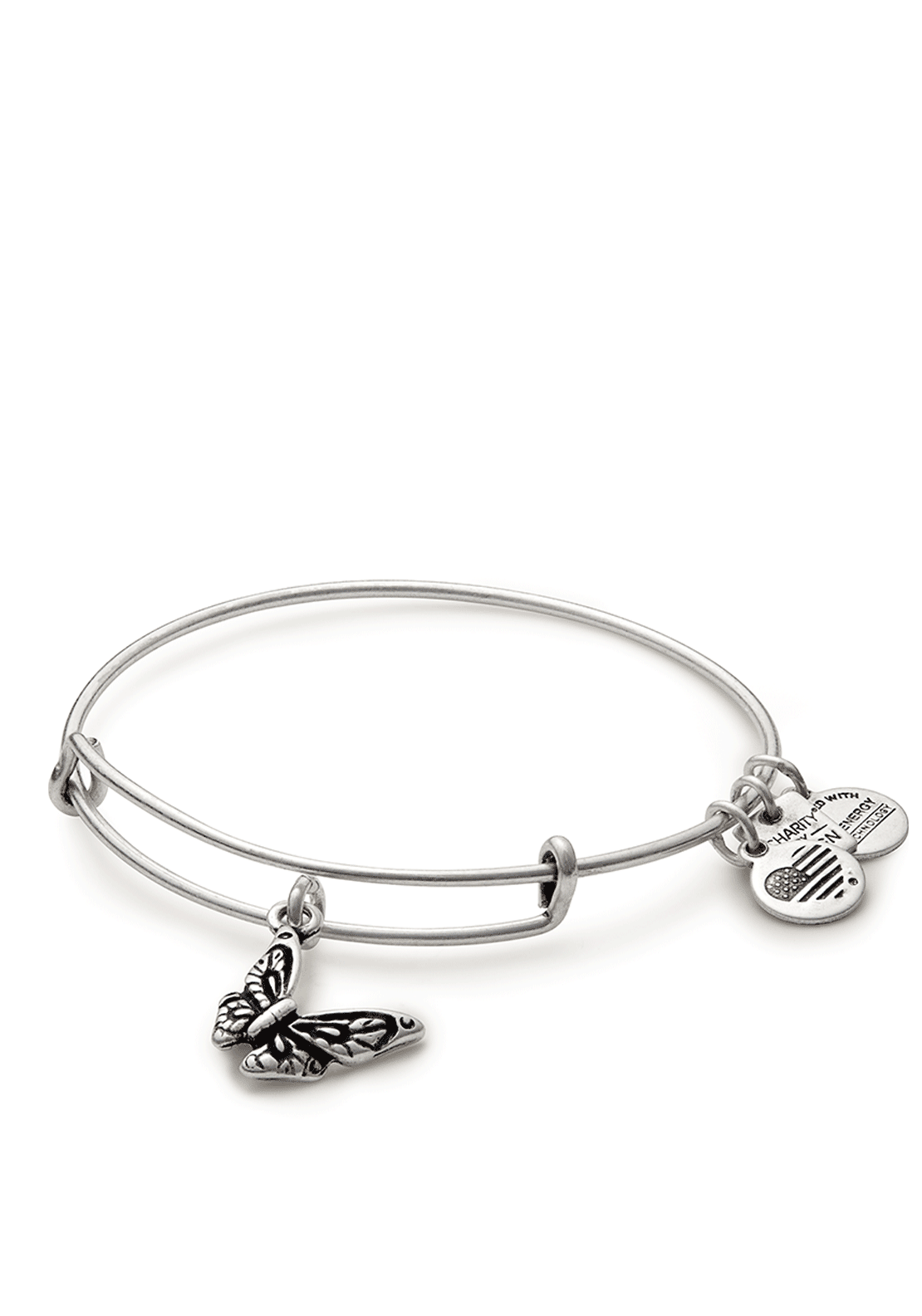 Alex and Ani Charity Butterfly Bracelet, Silver