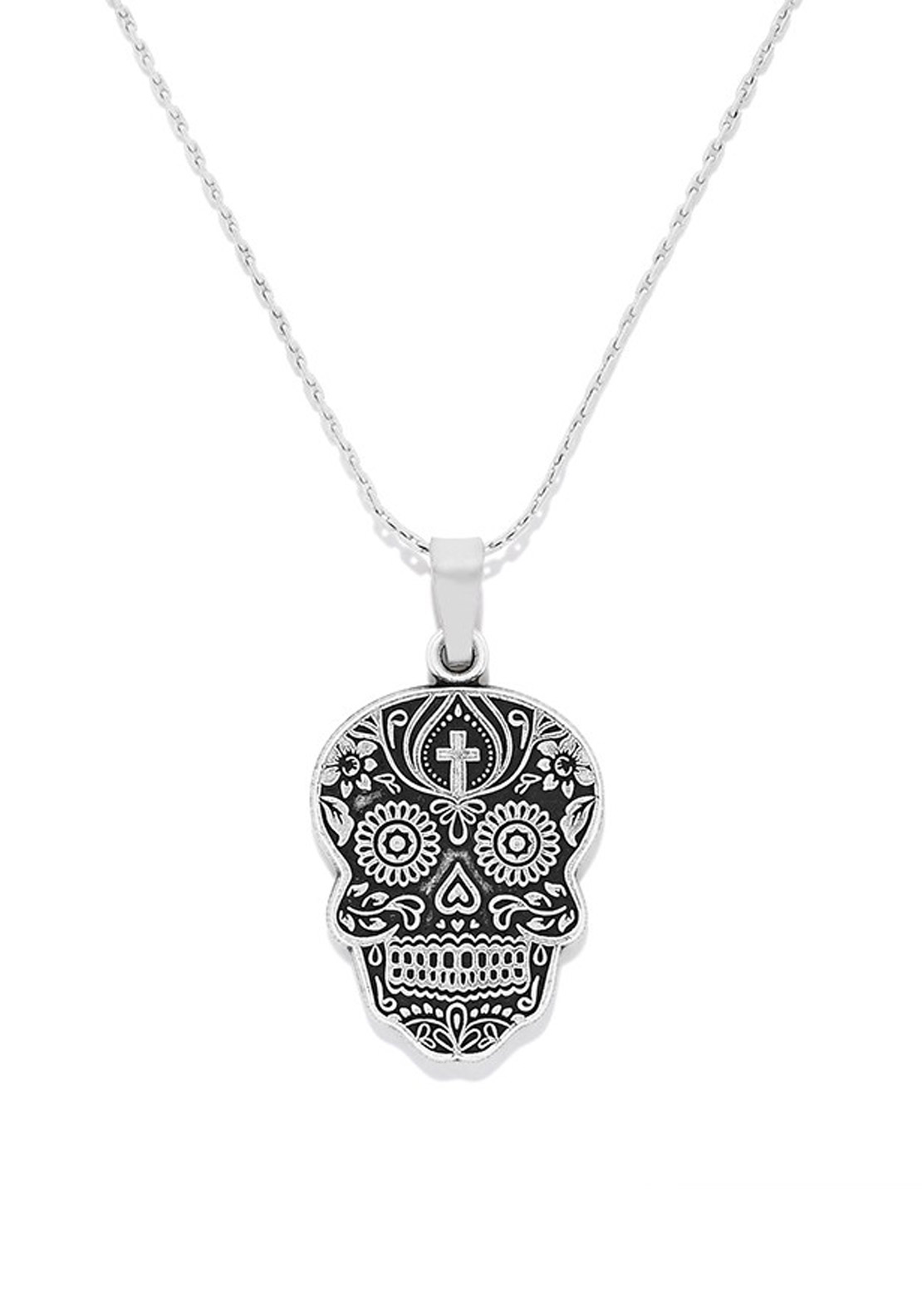 Alex and Ani Calavera Necklace, Silver