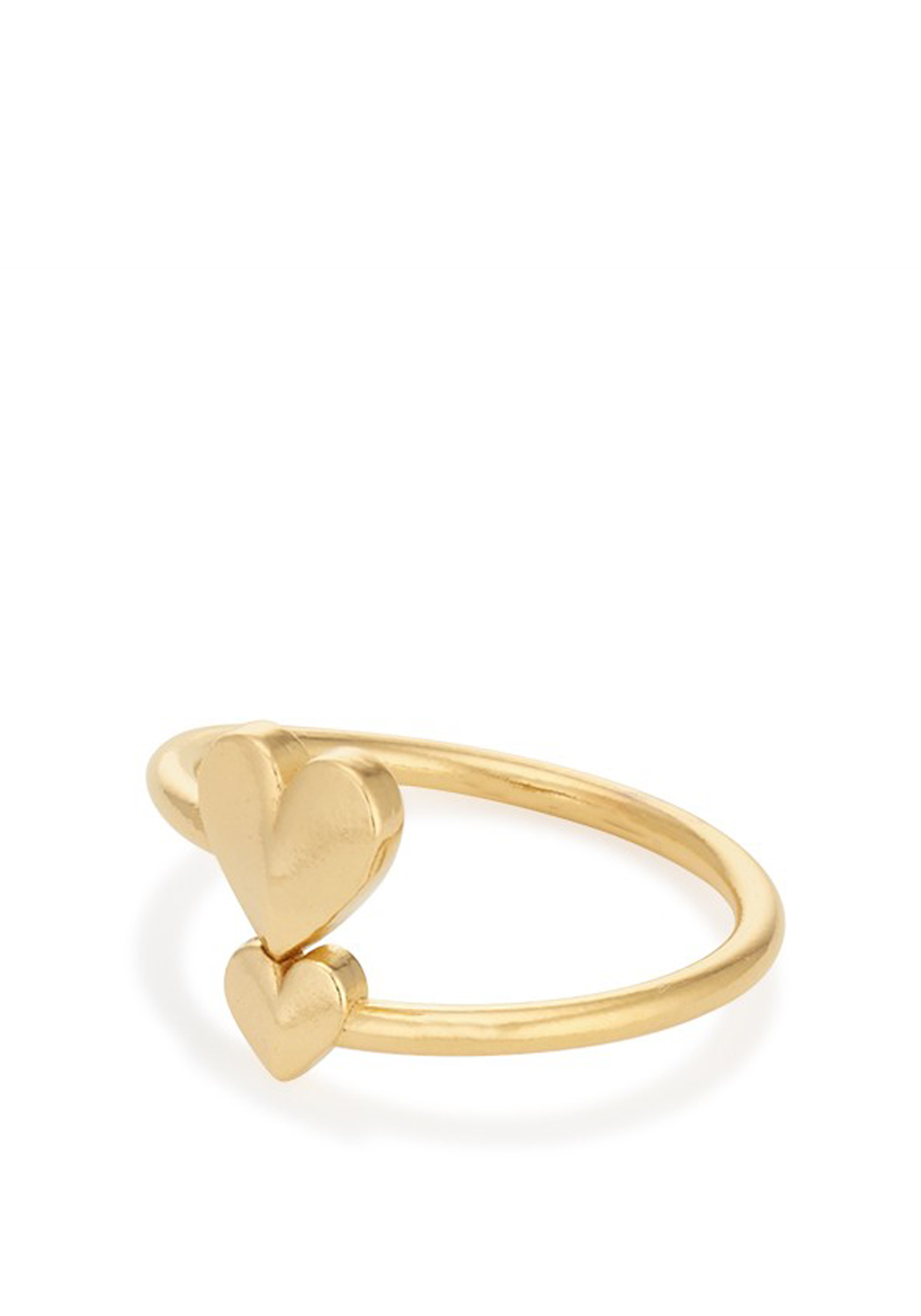 Alex and Ani Romance Heart Wrap Ring, Gold