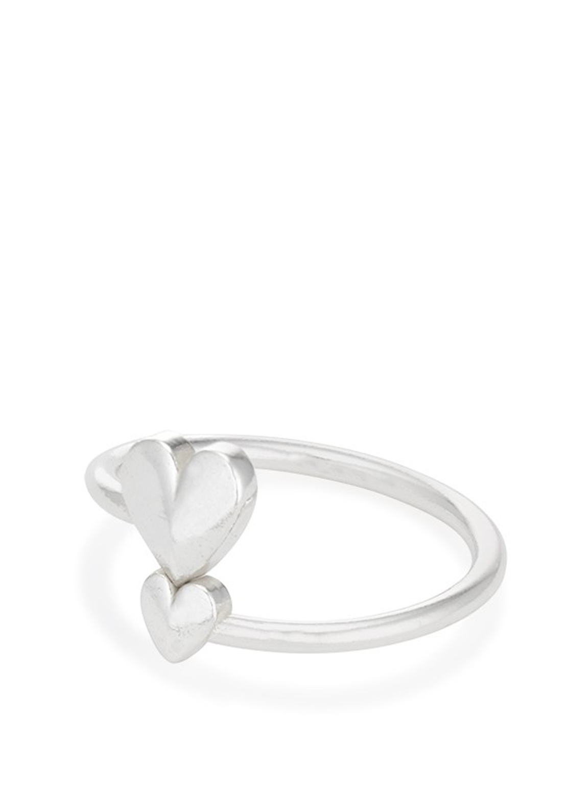 Alex and Ani Romance Heart Wrap Ring, Silver