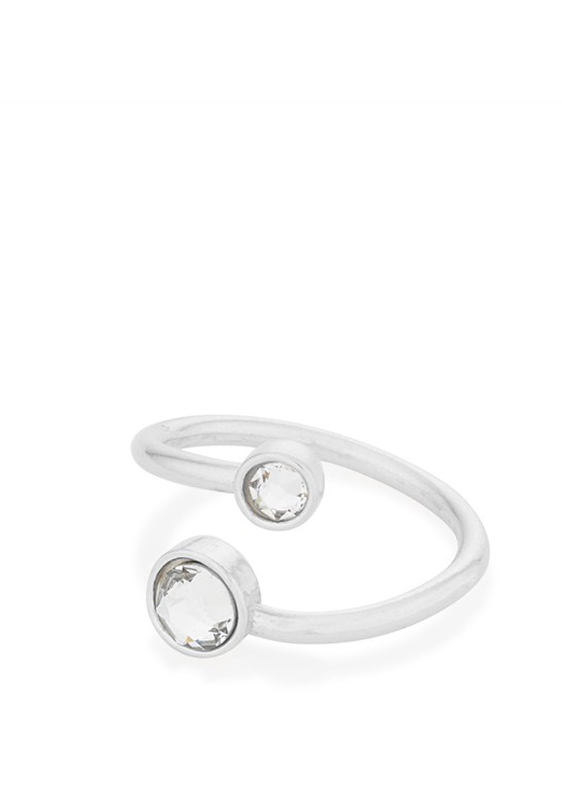Alex and Ani Swarovski Wrap April Ring, Silver