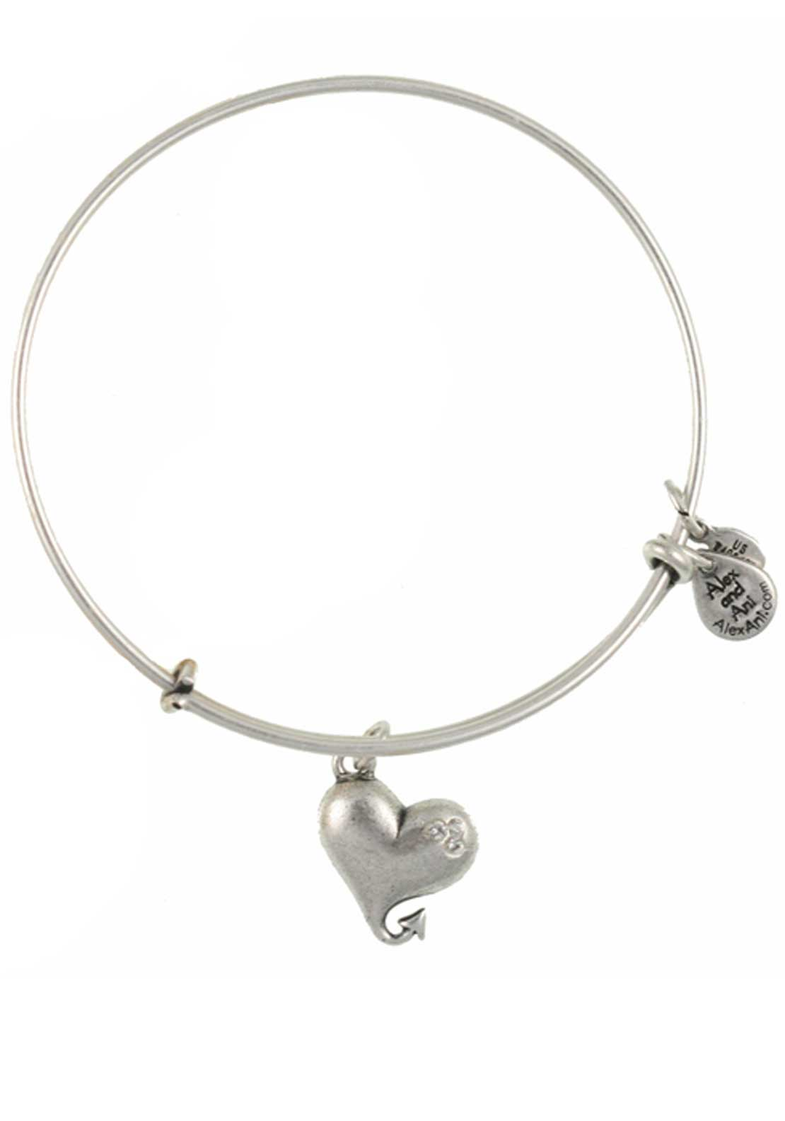 Alex and Ani Cupid's Heart Bracelet, Silver