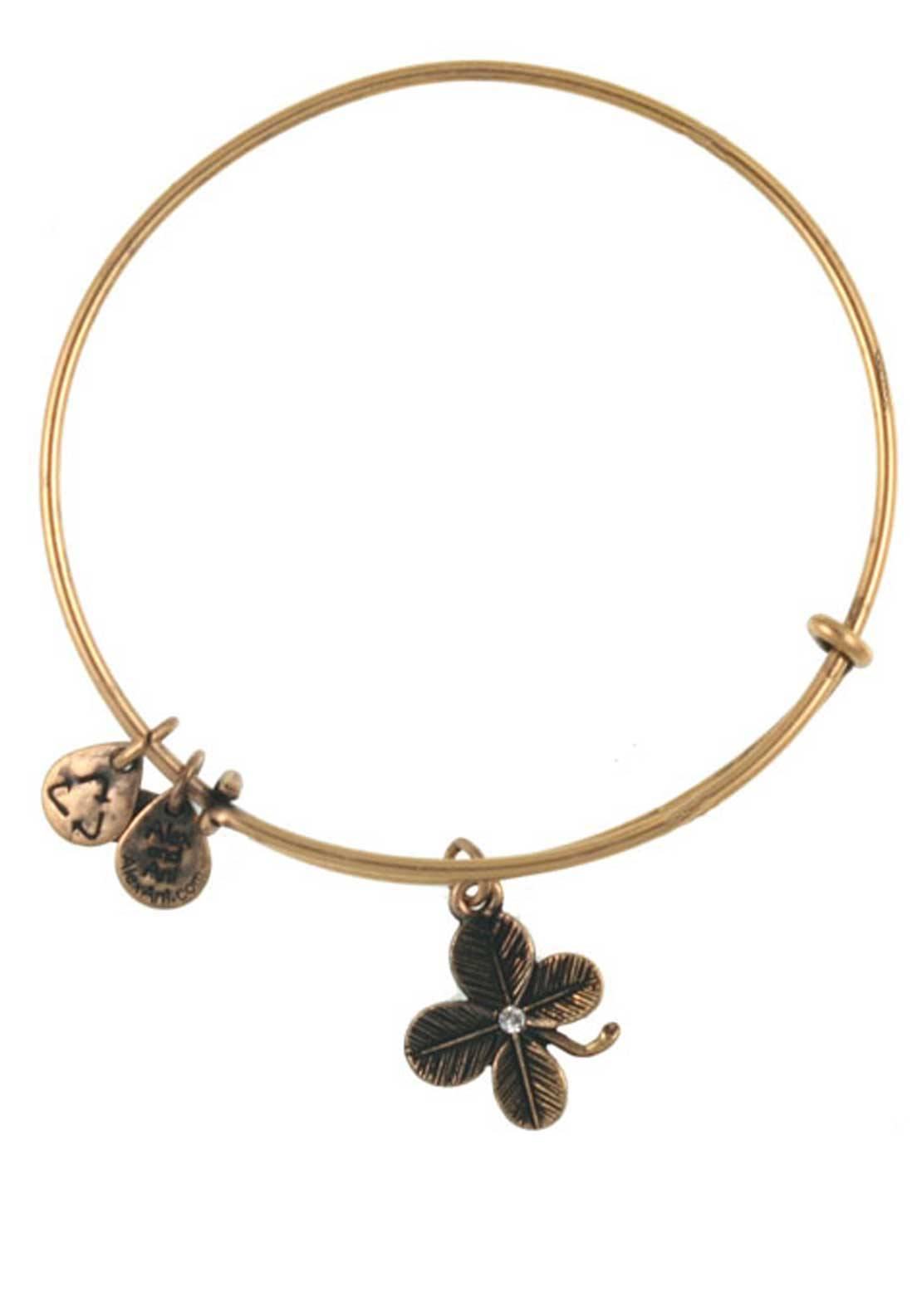Alex and Ani (+) Energy Lucky Clover Bracelet, Gold
