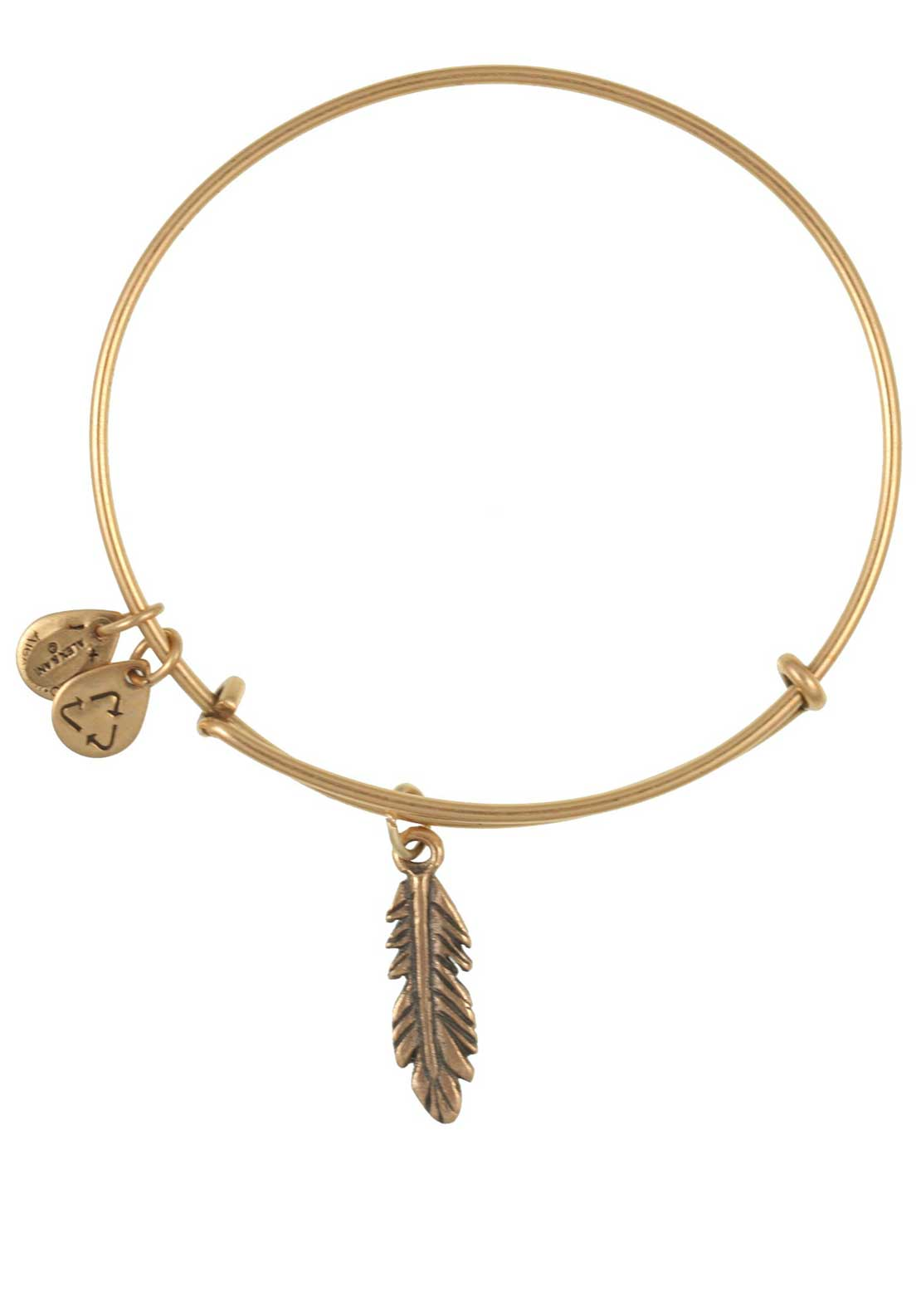 Alex and Ani (+) Energy Feather Bracelet, Gold