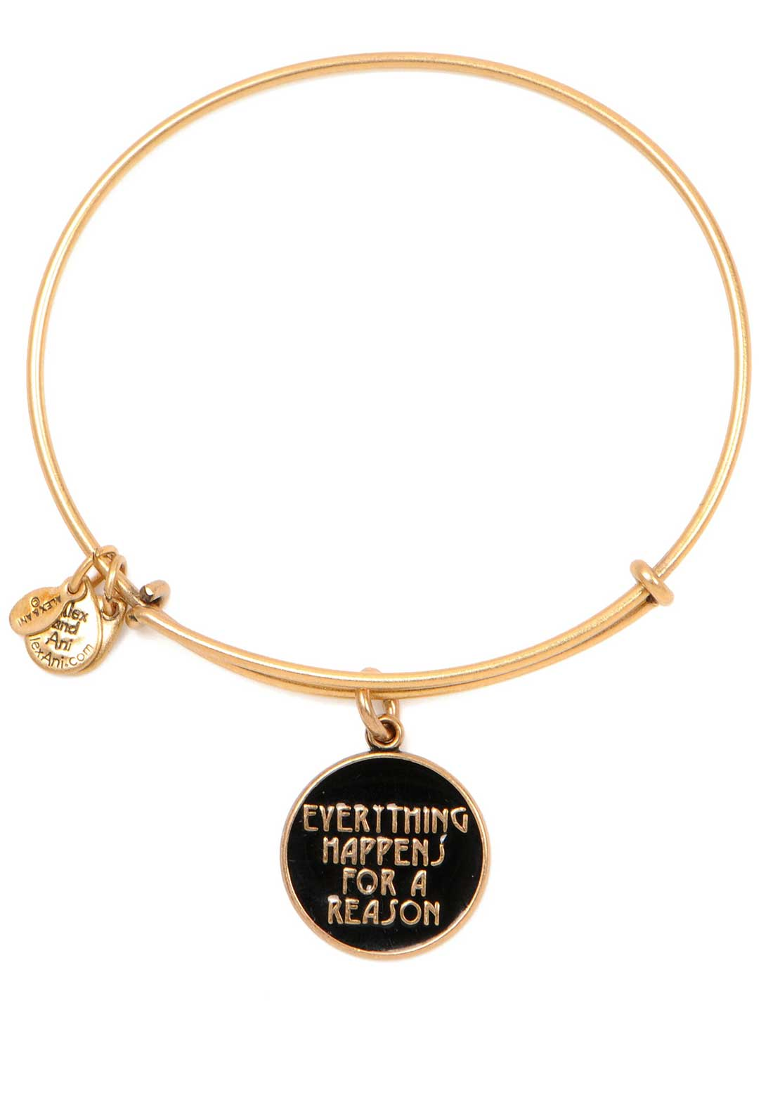 Alex and Ani (+) Energy Words are powerful Everything Happens for a Reason Bracelet, Gold