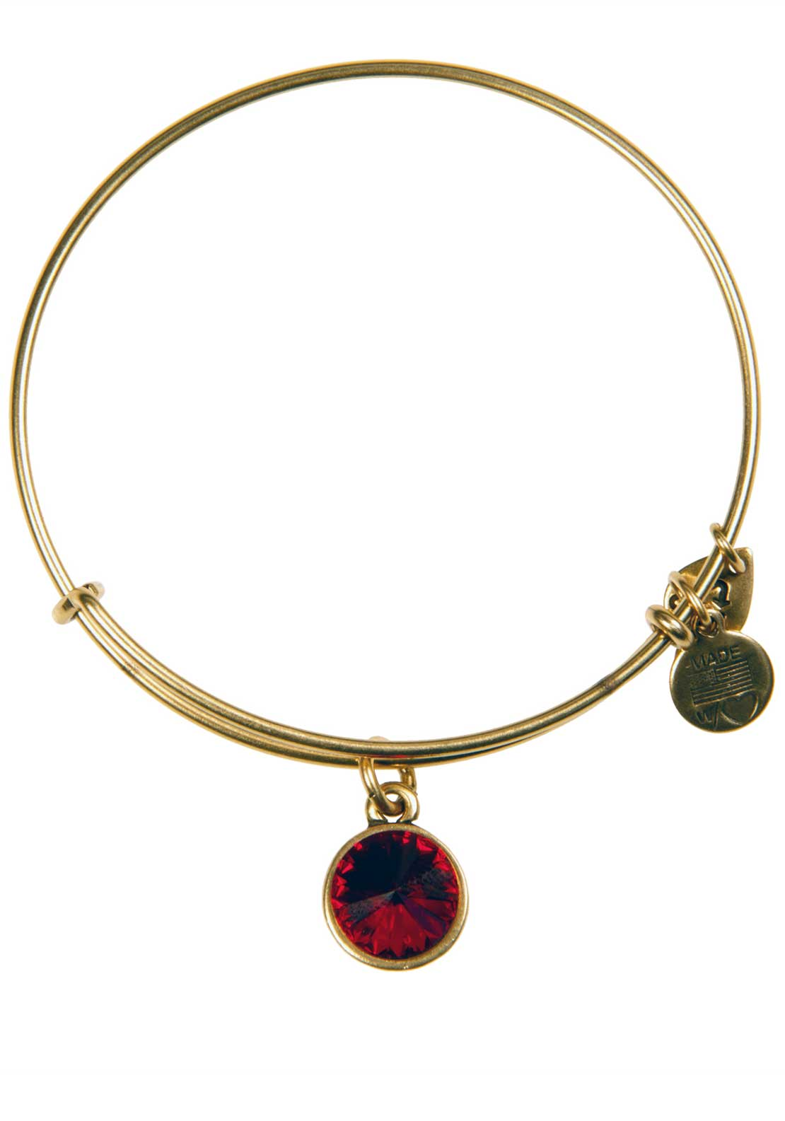 Alex and Ani (+) Energy January Birthstone Garnet Bracelet, Gold