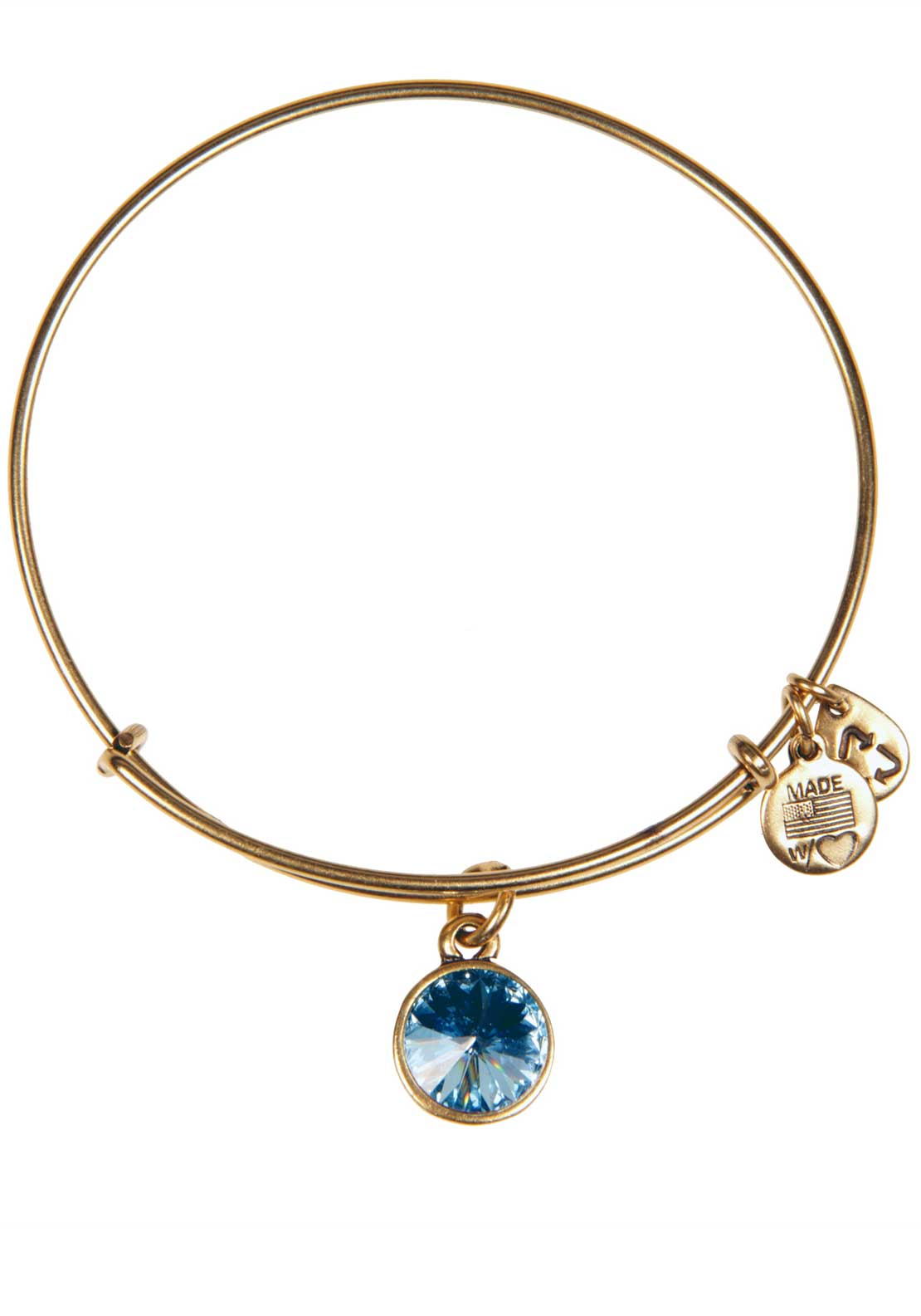 Alex and Ani (+) Energy March Birthstone Aquamarine Bracelet, Gold