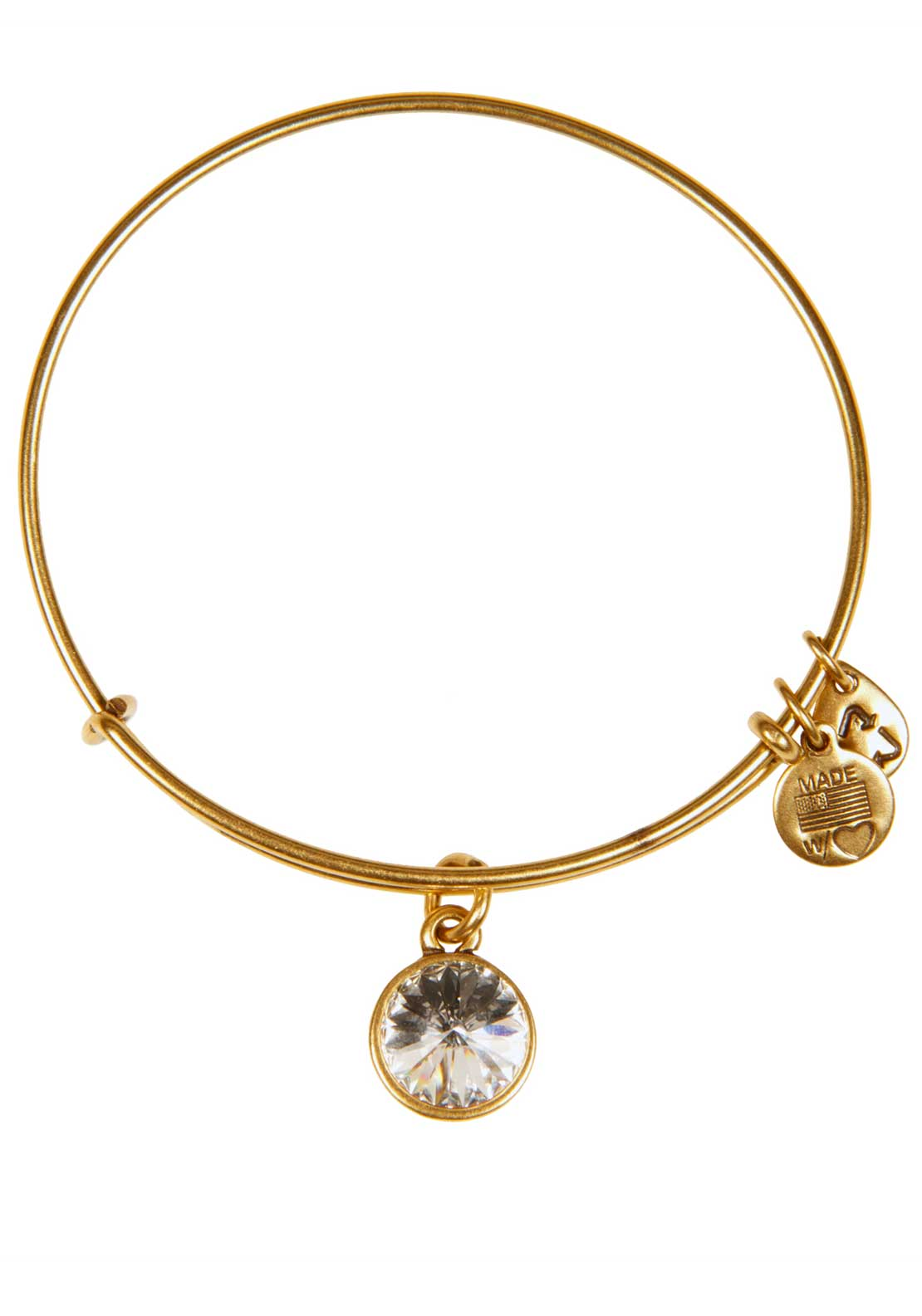 Alex and Ani (+) Energy April Birthstone Crystal Bracelet, Gold