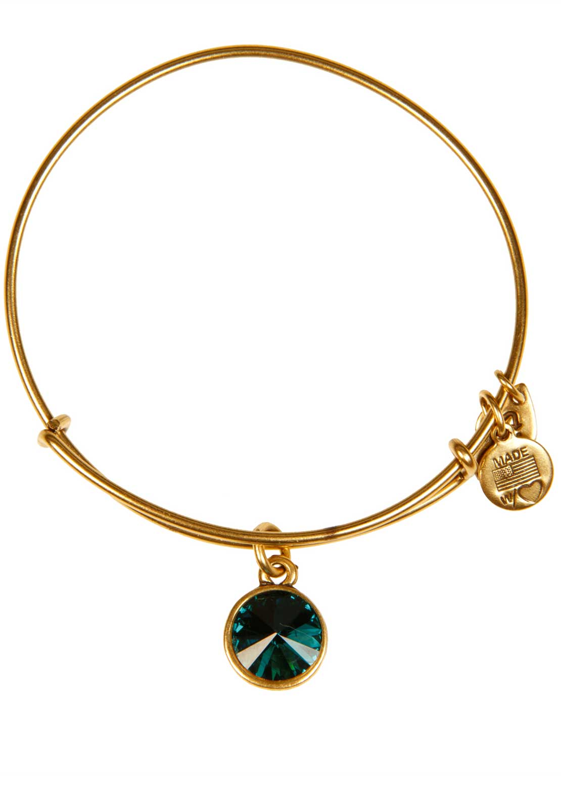 Alex and Ani (+) Energy May Birthstone Emerald Bracelet, Gold
