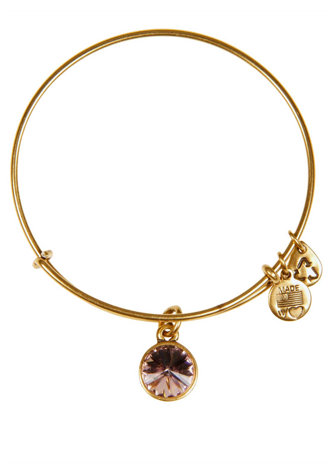 Alex and Ani (+) Energy June Birthstone Light Amethyst Bracelet, Gold