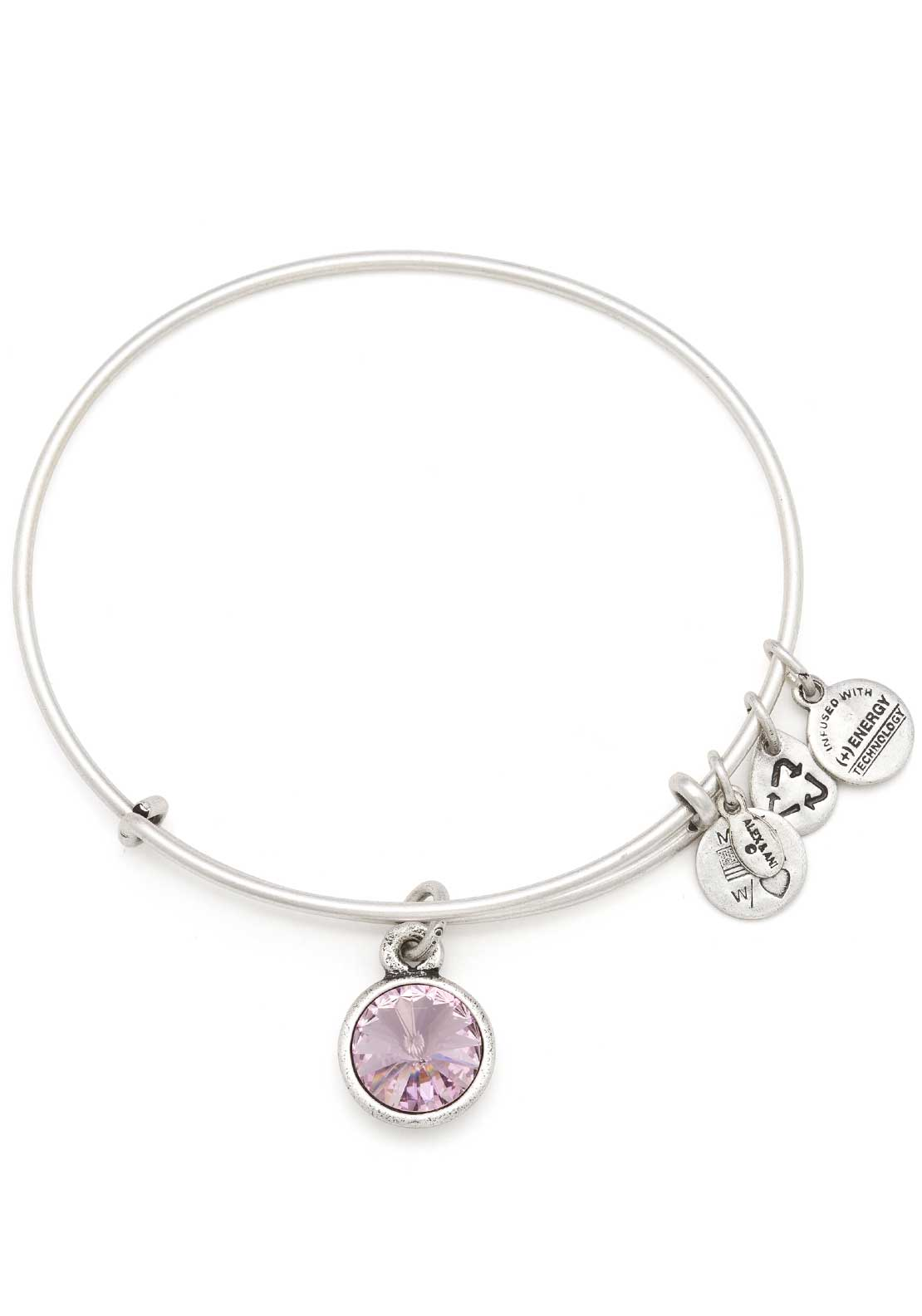 Alex and Ani (+) Energy June Birthstone Light Amethyst Bracelet, Silver