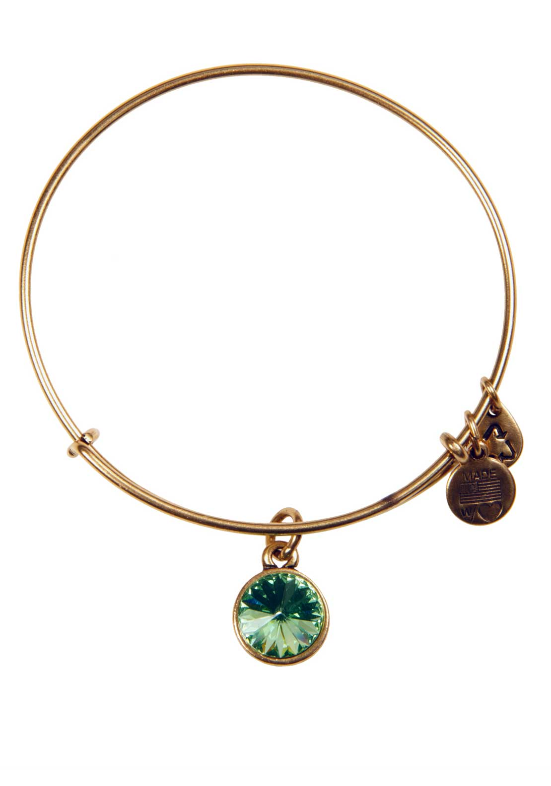 Alex and Ani (+) Energy August Birthstone Peridot Bracelet, Gold