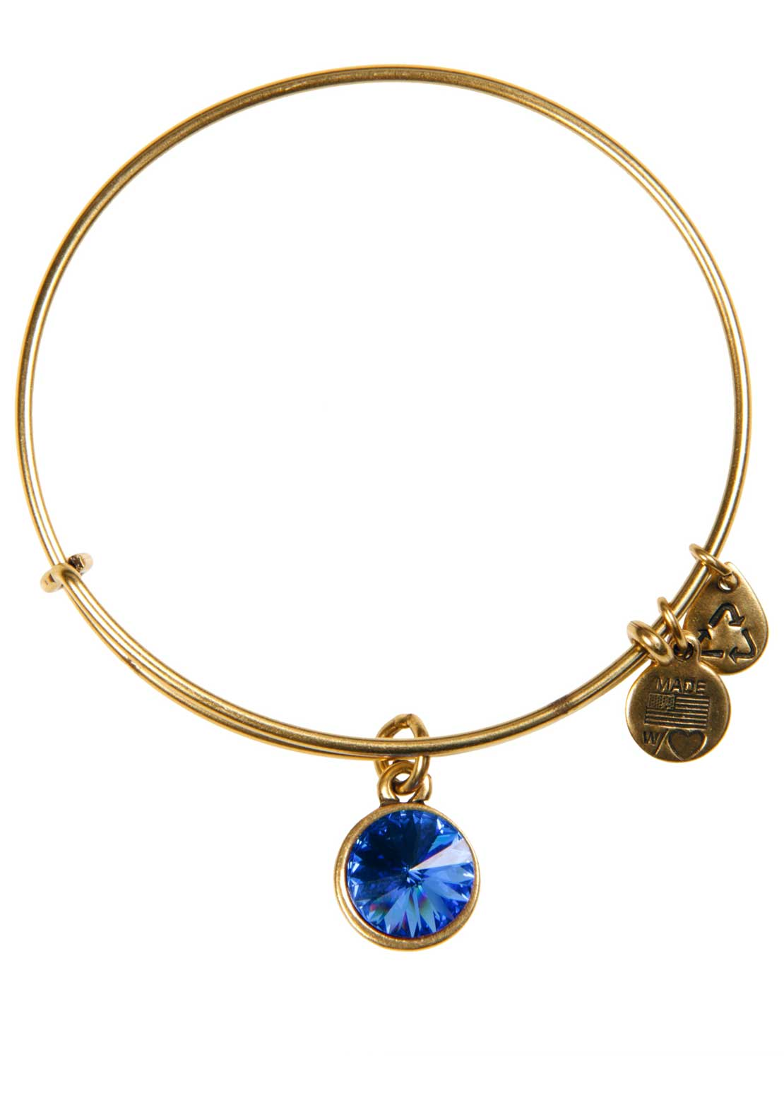 Alex and Ani (+) Energy September Birthstone Sapphire Bracelet, Gold