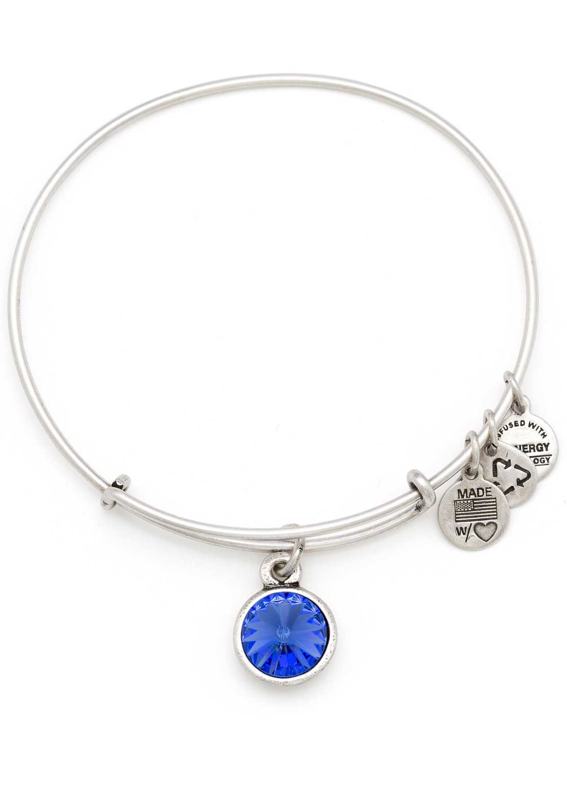 Alex and Ani (+) Energy September Birthstone Sapphire Bracelet, Silver