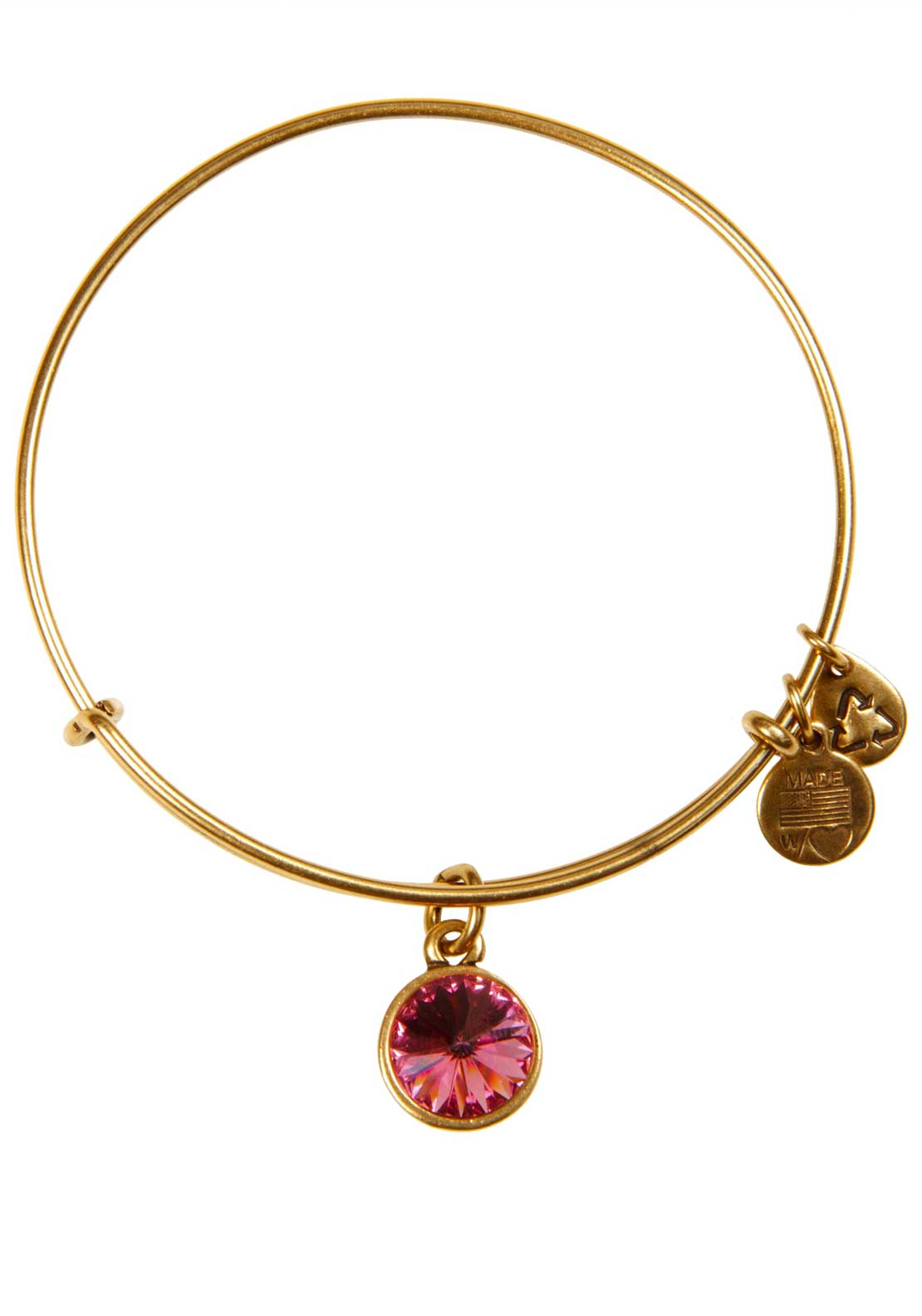 Alex and Ani (+) Energy October Birthstone Rose Bracelet, Gold