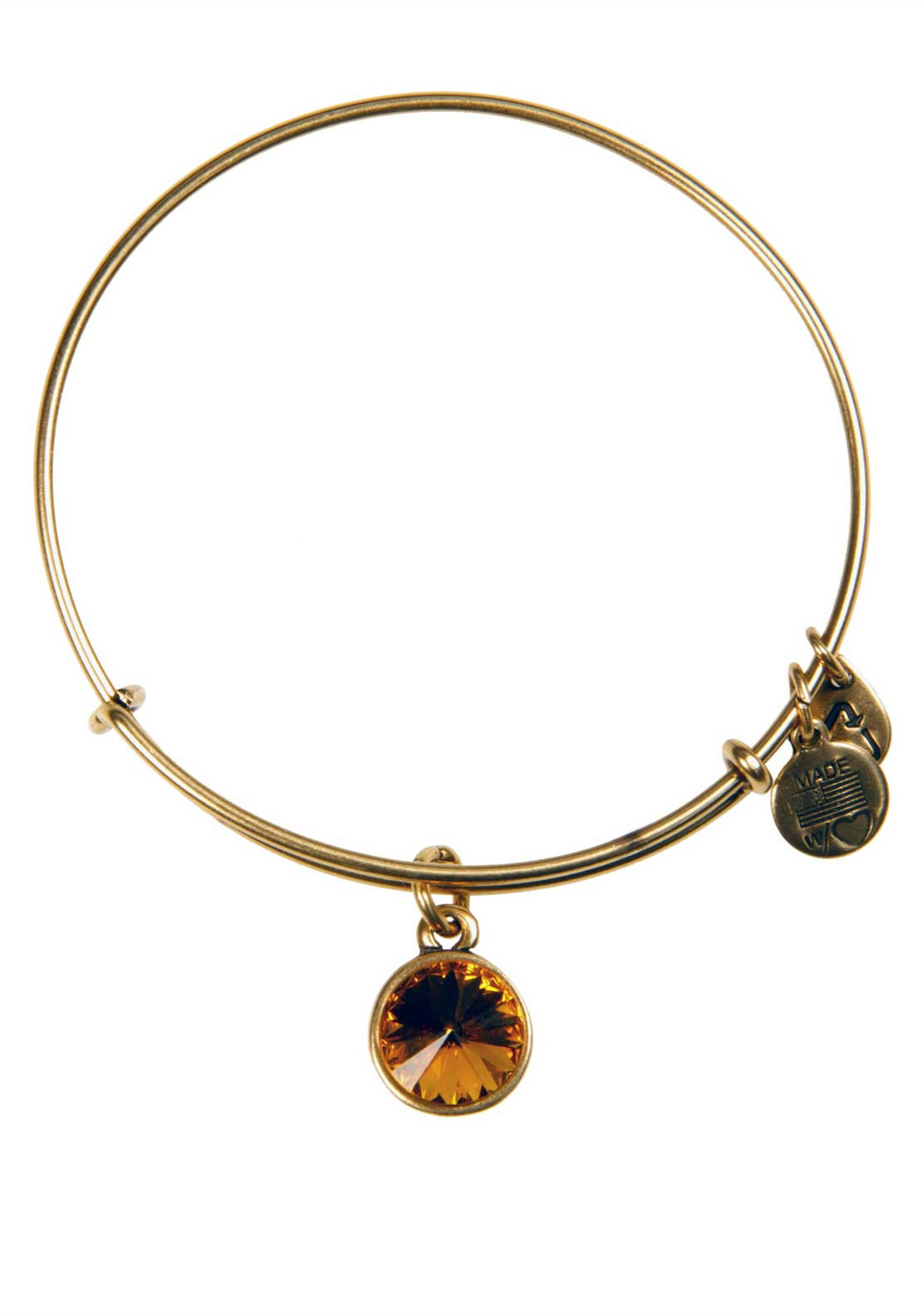 Alex and Ani (+) Energy November Birthstone Topaz Bracelet, Gold