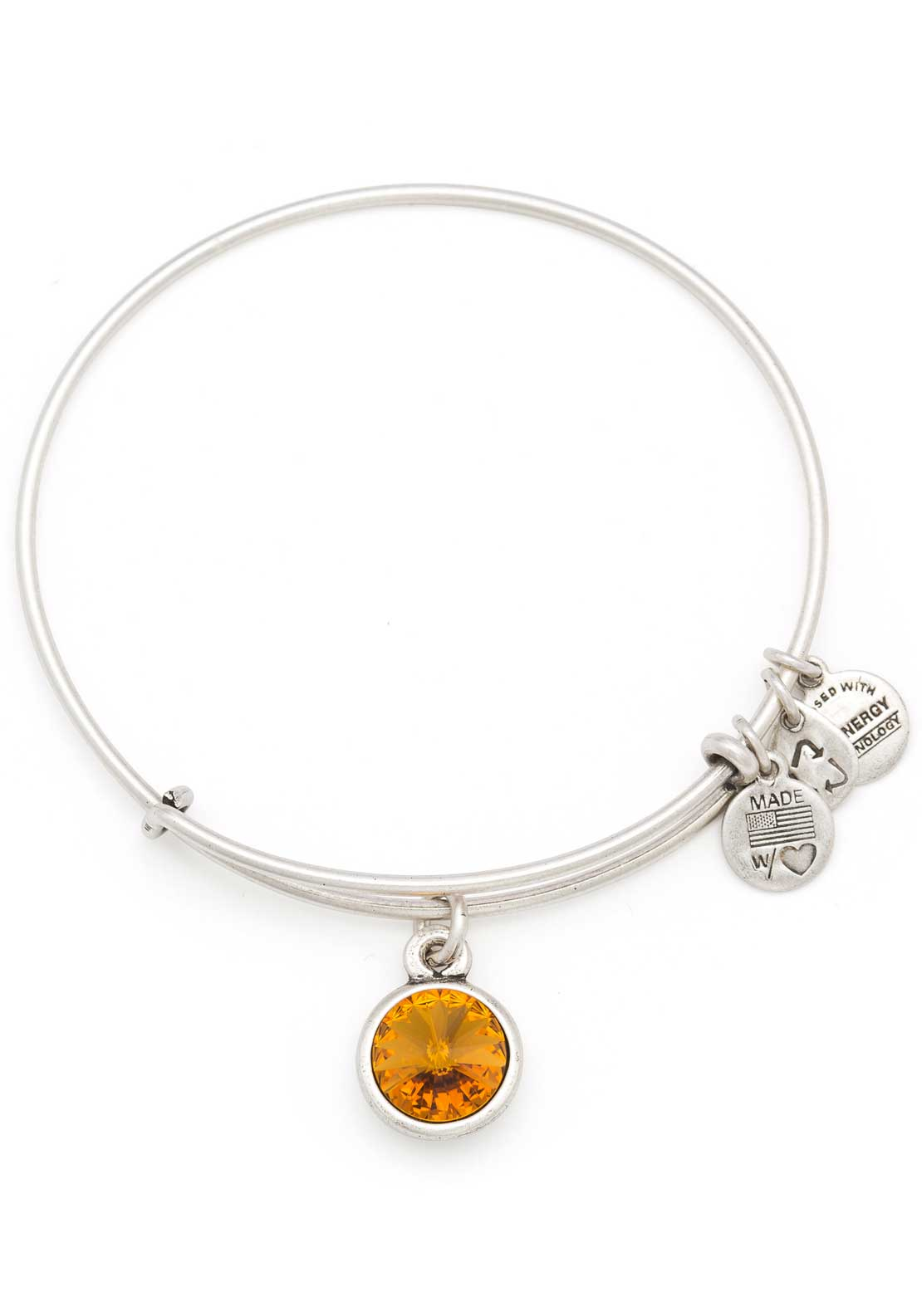 Alex and Ani (+) Energy November Birthstone Topaz Bracelet, Silver