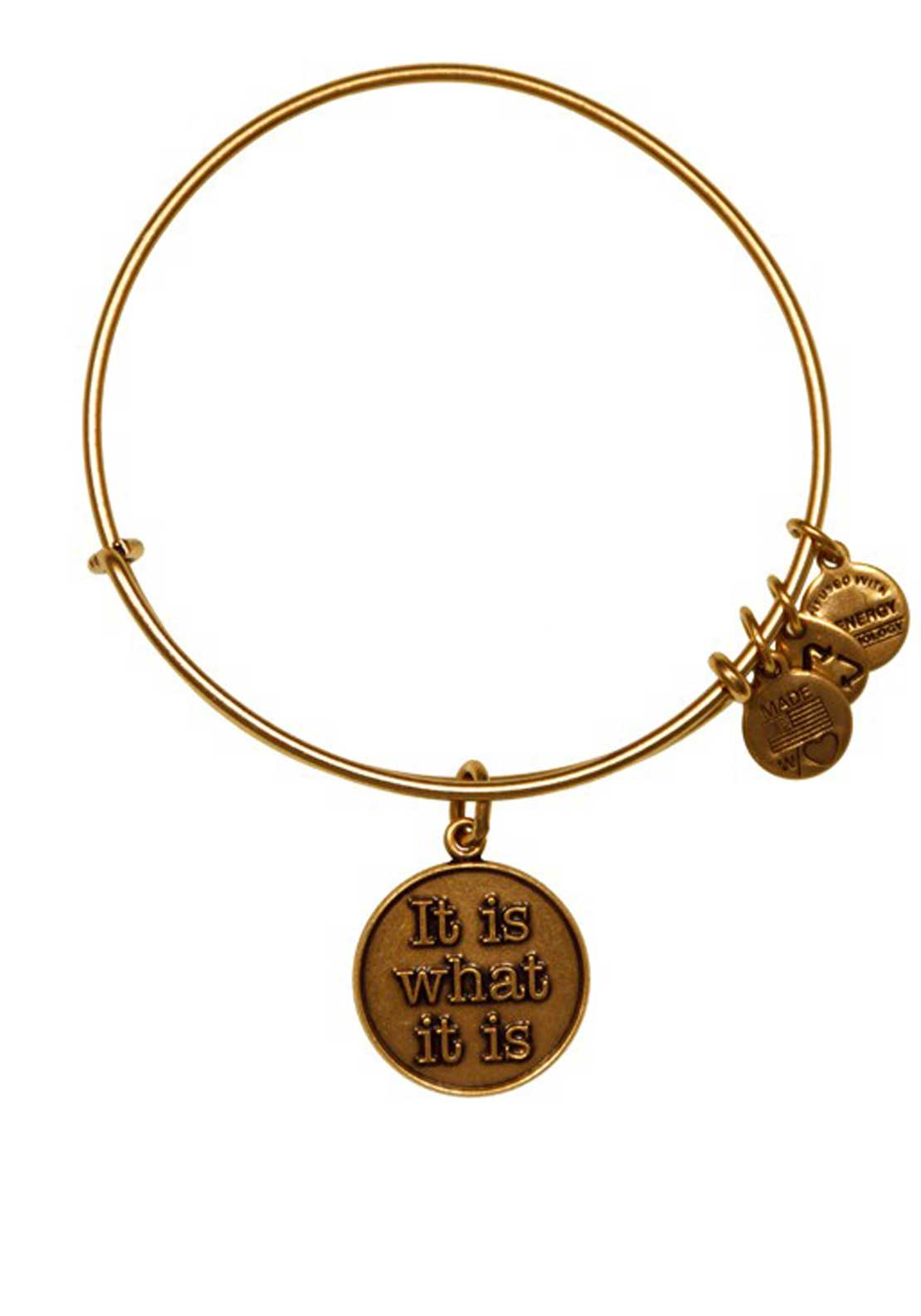 Alex and Ani (+) Energy Words are Powerful It Is What It Is Bracelet, Gold